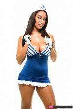 Busty Sailor Carmen Stripping In The Studio 04