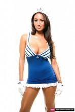Busty Sailor Carmen Stripping In The Studio 06