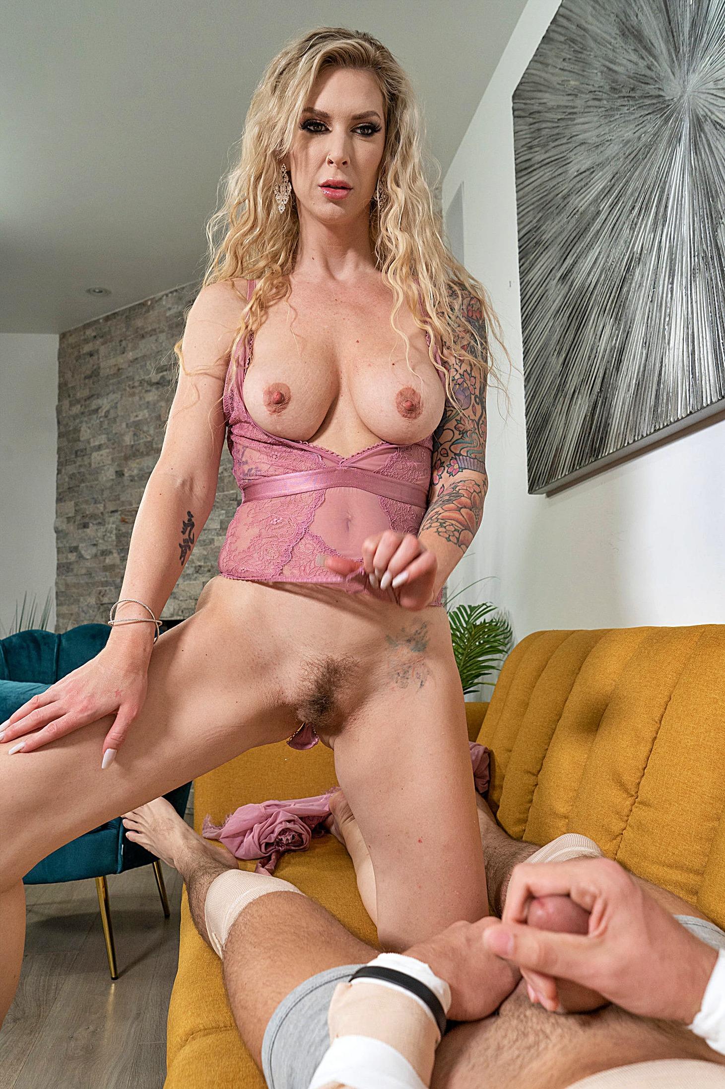 Blonde Girl Having Fun